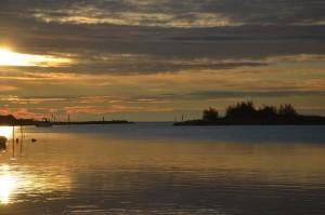 L'alba sulla Laguna del Mort