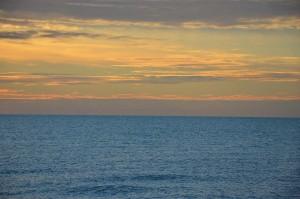 L'alba sul mare...